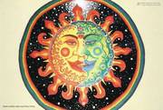 Sun Moon Psychedelic Spiritual Visionary Art Poster