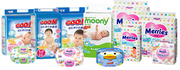 Baby diapers / nappies from Japan