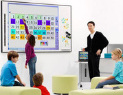 Interactive Whiteboard,  Projector,  And Height Adjustable Mobile Stand!
