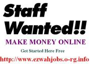 Flexible Works / Part time staff Required.
