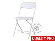 Folding Chair white 44x44x80 cm (8 pcs)