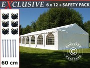 Sale! Marquee Plus 6x12 m PVC white