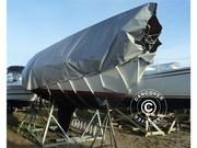 tarpaulin 7x5 m PVC 500 g/m²,  Grey