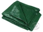 Tarpaulins 12x15 m PE,  65 g/m²,  Green