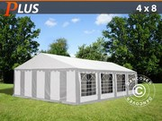 Marquee PLUS 4x8 m PE,  grey/white