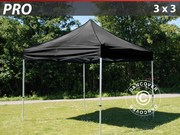 Folding canopy FleXtents Pro 3x3 m,  black
