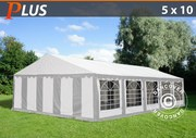 Marquee PLUS 5x10 m PE,  grey/white