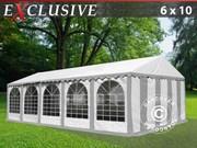 Marquee 6x10 m PVC grey/white