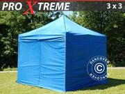 FleXtents Pro Xtreme 3x3 m Blue incl. 4 sidewalls