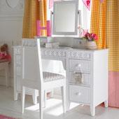 New Collection of Daisy Brambles Large Dressing Table & Mirror