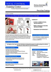 Fire & Gas Field Fundamental Course