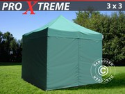 FleXtents Pro Xtreme 3x3 m,  green incl. 4 sidewalls