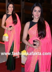 Asin in Stunning Silk Net Saree at Siima Awards