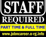 Part Time Staff Required,  Start Today.