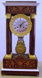 French portico pillar mantel clock (1850)