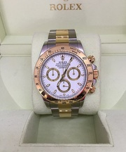 Pre-owned Rolex Daytona Cosmograph 116523 White Dial