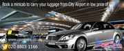Book a minicab to carry your luggage from City airport in a low price