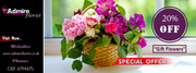 Admire florist offering 20% off at a precious collection