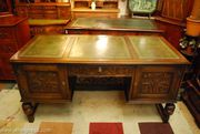 London Edwardian Rep Writing Desks Office Captain Chairs Bargains