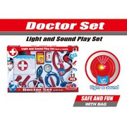LIGHT & SOUND CHILDRENS KIDS DOCTORS NURSE PRETEND PLAY CARRY CASE TOY