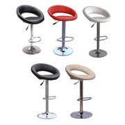 You Can Buy Pack of Any Two Modern Eclipse Faux Leather Swivel Bar Sto
