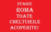 Toate cheltuielile acoperite pentru stagiu in Roma!