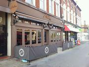 Wooden shop fronts in London