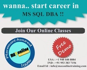 SQL Server Best Practical Online training @ Maxonlinetraining
