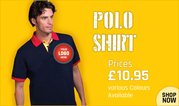 Get Custom Logo Printed Polo Shirts at Just £10.95