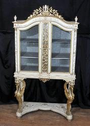 Antique Empire Painted Display Cabinet Bijouterie French Furniture 188