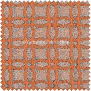Buy Orange Velvet Upholstery Fabric from right place