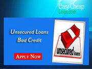 Unsecured Loans on Lowest APRs for Bad Credit People in the UK