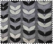 Grey color velvet upholstery fabric