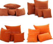 We carry a huge selection of Orange velvet upholstery fabric