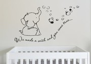 We made a wish baby elephant wall decal sticker