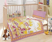 Buy Cot Bed Duvet Cover with Pillowcase - Little Farm