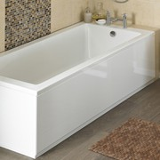 Premier 1600mm High Gloss White MDF Front Bath Panel