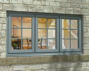 Triple Casement Painted Window
