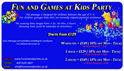 Fun and Games at kids party | Funomenalparties Ltd