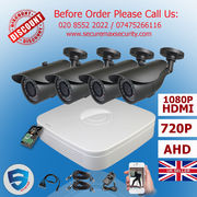 4x HD CCTV Security Cameras kit DVR Recorder with Hard Drive