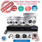 4 Channel AHD CCTV DVR with 1MP 720P Dome Security Cameras
