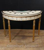 Single Adams Demi Lune Console Table Painted Tables