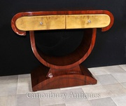 Art Deco Dressing Console Table Walnut 1920s Furnitur