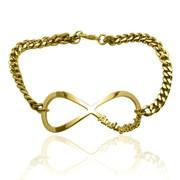Online Shop for Gold Plated Infinity Name Bracelet