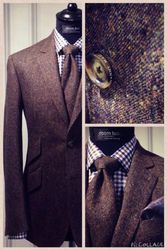 Tweed suits for men