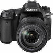 2017 Canon - EOS 80D DSLR Camera with 18-135mm IS USM Lens - Black