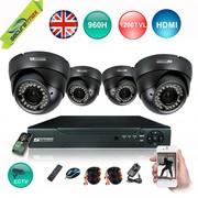 SecureMax 4 CHANNEL 1080P 960H DVR,  CCTV CAMERAS 4 KIT