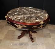 French Louis XVI Centre Table Center Marble Topped