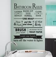 Bathroom rules wall decal sticker