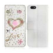 New Fancy Luxury Diamond Swarksi Love Diamond 3d Book Case for iPhone